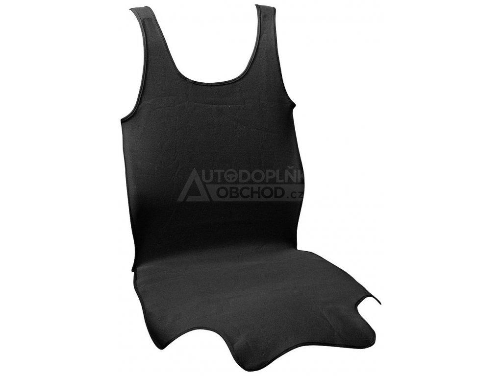 Potah sedadla TRIKO SOFT přední, černý