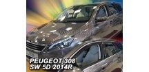 Ofuky oken Peugeot 308 II 2014-2018 (+zadní) SW Combi