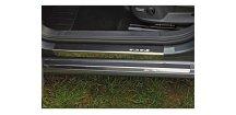 Prahové lišty VW Golf VII 2013-2017 • nerez s karbonem