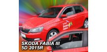 Ofuky oken Škoda Fabia III 2014-2017 (+zadní)