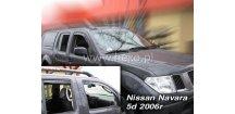Ofuky oken Nissan Navara Pickup 2005-2014 (+zadní)