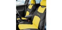 Potah sedadla TRIKO přední, žlutý - sada 2 ks