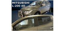 Ofuky oken Mitsubishi L200 2015-2017 (+zadní) Double Cab