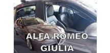 Ofuky oken Alfa Romeo Giulia 2016-2017 (+zadní)