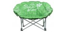 Kempingová židle FLOWERS • skládací • zelená