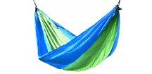 Houpací síť NYLON 275x137cm • zeleno-modrá