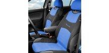 Potah sedadla TRIKO přední, modrý - sada 2 ks