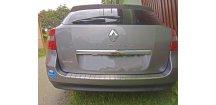 Kryt prahu pátých dveří Renault Laguna III 2007-2015 Grandtour • nerez