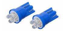 Žárovka 4LED 12V T10 modrá 2 ks