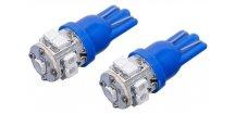 Žárovka 9 SUPER LED 12V T10 modrá 2 ks