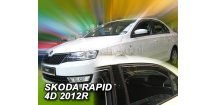Ofuky oken Škoda Rapid 2012-2016 (+zadní) Sedan