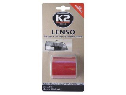 Opravná páska pro opravu světel LENSO 4,8 x 150 cm červená - K2