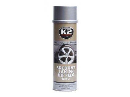 Stříbrný lak na kola RALLY 500 ml - K2
