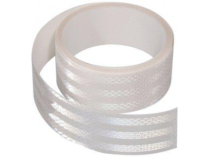 Samolepící páska reflexní 5m x 5cm bílá