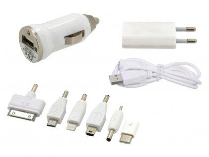 Nabíječka telefonu 220/12V (iPhone 4/5/6, micro USB, Nokia)