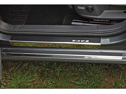 Prahové lišty VW Golf VII 2013-2019 • nerez s karbonem