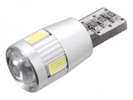 Žárovka 6 SMD LED 12V T10 s rezistorem CAN-BUS ready bílá