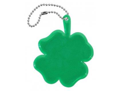 Přívěšek reflexní ČTYŘLÍSTEK, zelený