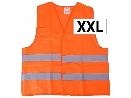 Reflexní výstražná vesta XXL oranžová EN 20471:2013