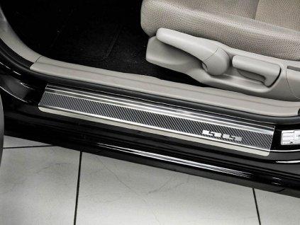 Prahové lišty Mazda 3 2013-2019 • nerez s karbonem