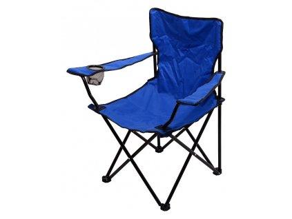 Kempingová židle BARI • skládací • modrá