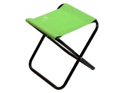 Kempingová židle MILANO • skládací • zelená