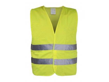 Reflexní výstražná vesta XL žlutá EN 20471:2013