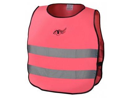 Reflexní výstražná vesta růžová - dětská