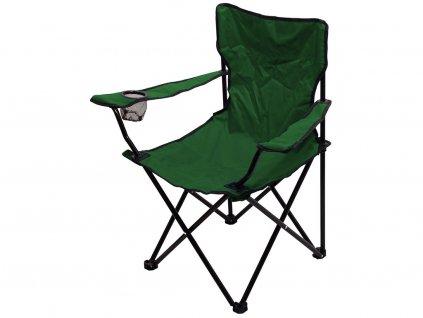Kempingová židle BARI • skládací • zelená
