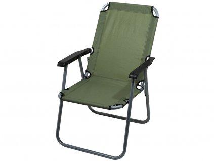 Kempingová židle LYON • skládací • zelená
