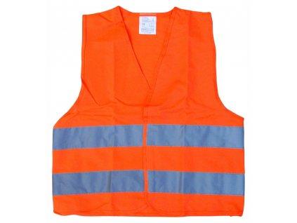 Reflexní výstražná vesta oranžová - dětská