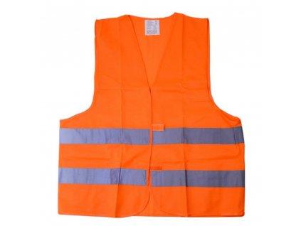 Reflexní výstražná vesta XL oranžová EN 20471:2013