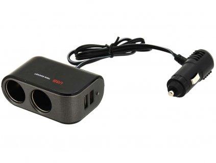 Rozdvojka 12/24V • 2x USB 2100mA
