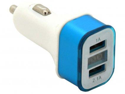 Zástrčka KOMBI - USB, voltmetr, ampérmetr