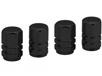 Čepičky ventilků ozdobné - černé