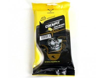Čistící ubrousky jednorázové Coyote - COCKPIT - Citron
