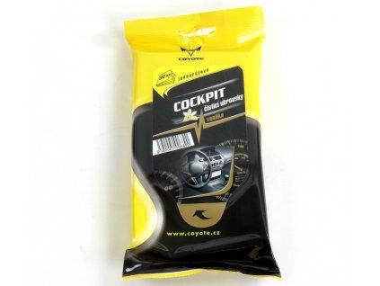 Čistící ubrousky jednorázové Coyote - COCKPIT - Vanilka