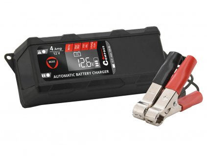 Nabíječka autobaterií mikroprocesor 4Amp 12V PB/GEL/AGM/LiFePO4 LCD display
