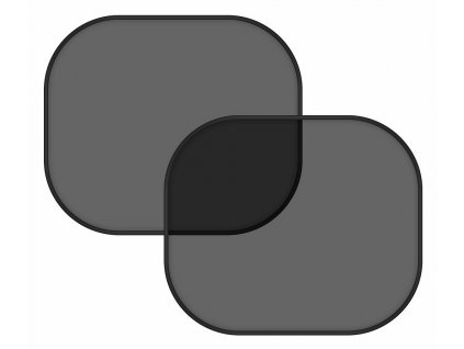 Sluneční clona na boční okno černá 2 ks