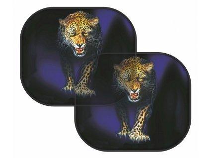 Sluneční clona na boční okno - leopard 2 ks
