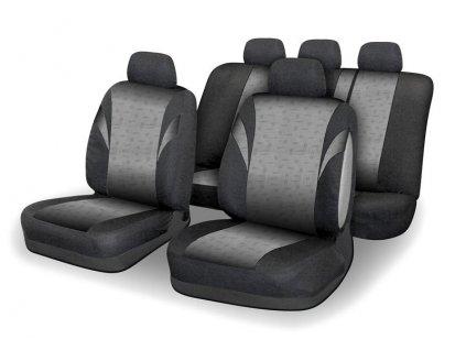 Potahy sedadel POLY šedé Airbag