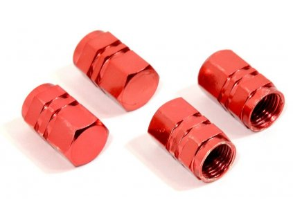 Čepičky ventilků ozdobné - červené