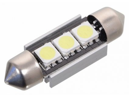 Žárovka 3 SMD LED 12V sufitka SV8.5 s rezistorem CAN-BUS ready bílá