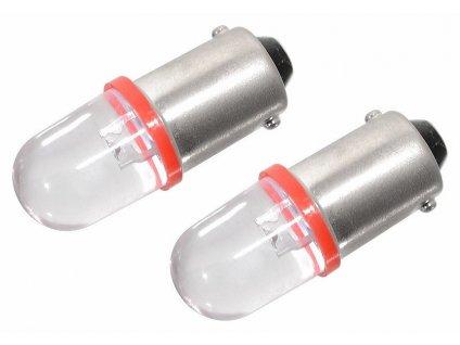 Žárovka 1LED 12V Ba9s červená 2 ks