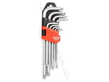 Sada zástrčných klíčů TORX s otvorem TT10-TT50 9 ks