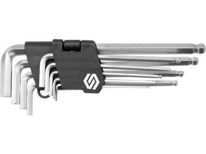 Klíč imbusový HEX sada 9 ks 2.0-10.0 mm s kuličkou
