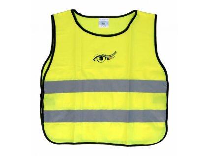 Reflexní výstražná vesta žlutá - dětská