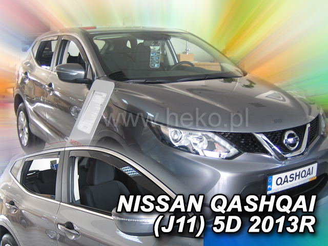 Heko • Ofuky oken Nissan Qashqai 2013- (+zadní) • sada 4 ks