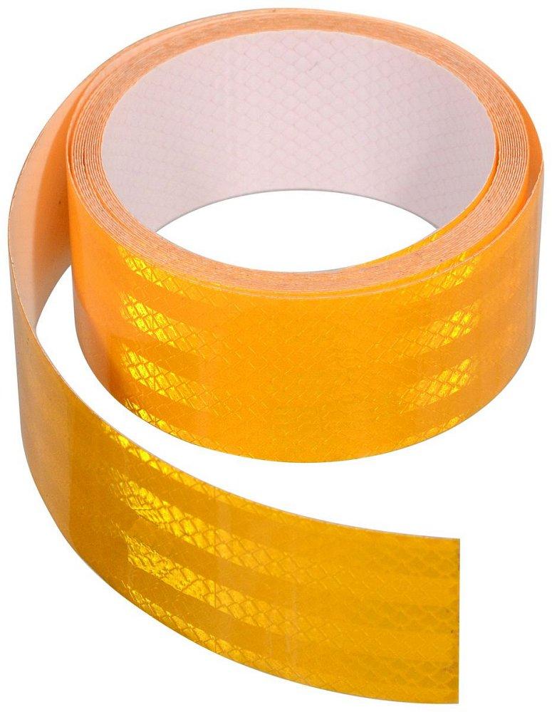 Compass • Samolepící páska reflexní 1m x 5cm žlutá
