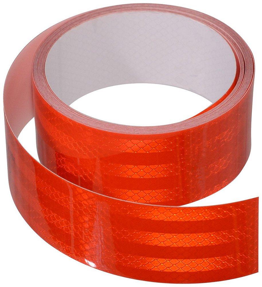 Compass • Samolepící páska reflexní 1m x 5cm červená